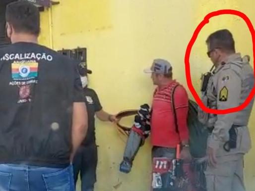Policial Militar em Araguaína aparece em vídeo,  sem mascara e desrespeitando decreto