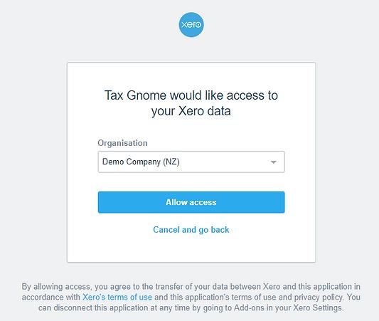 Xero Organization Selection.PNG