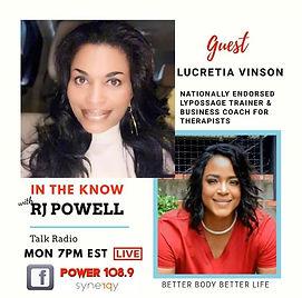 Nov 25th, guest Lucretia Vinson will put