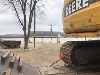 Preparing to dredge boat slips