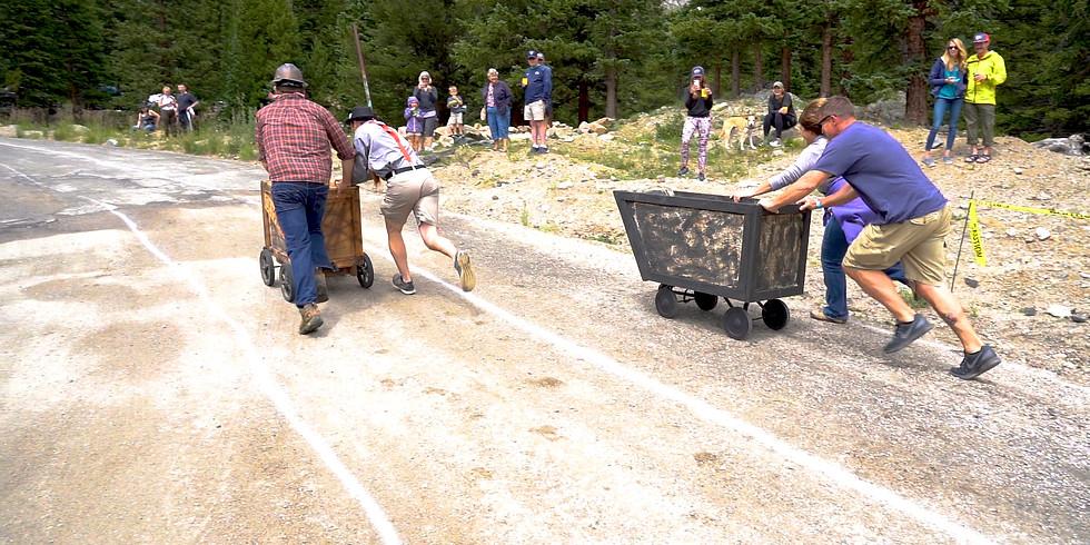 GlacierFest 2021 3rd Annual Ore Cart Races