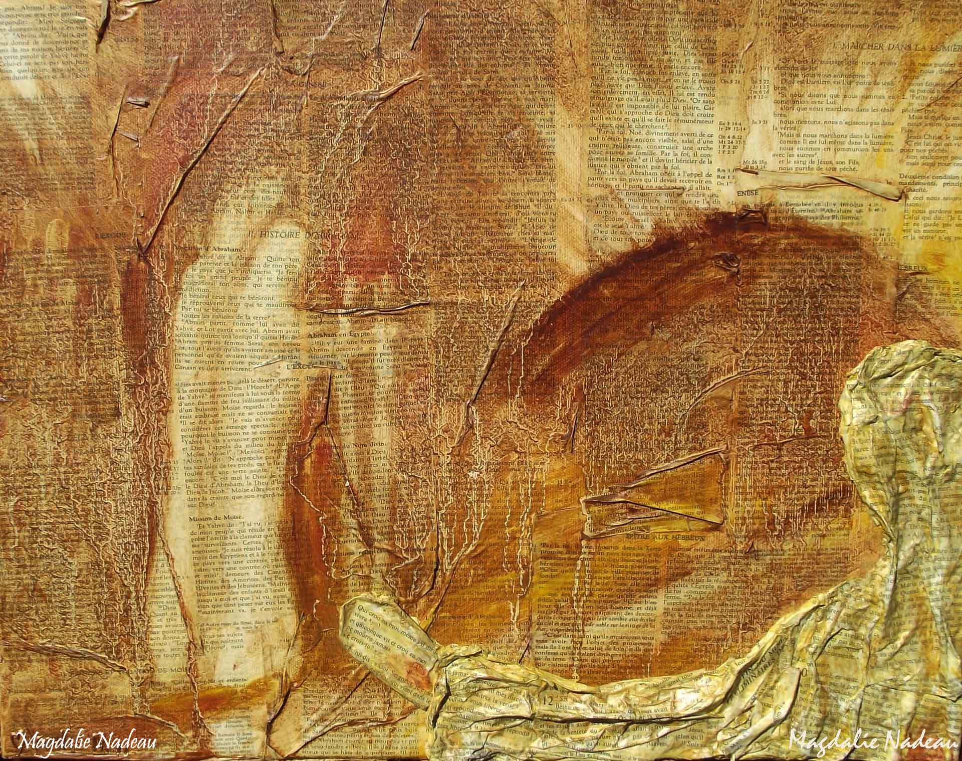 VA EN PÈLERINAGE VERS TA TERRE PROMISE comme Abraham, Moïse, Emmaüs