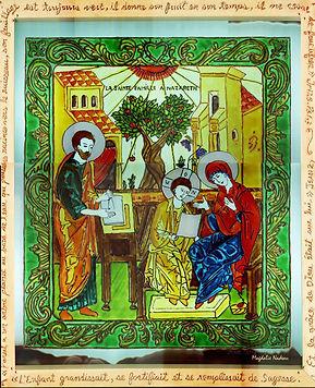 Vitrail sainte familleNazareth magdalien