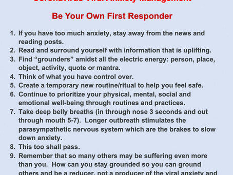 Corona Viral Anxiety Management
