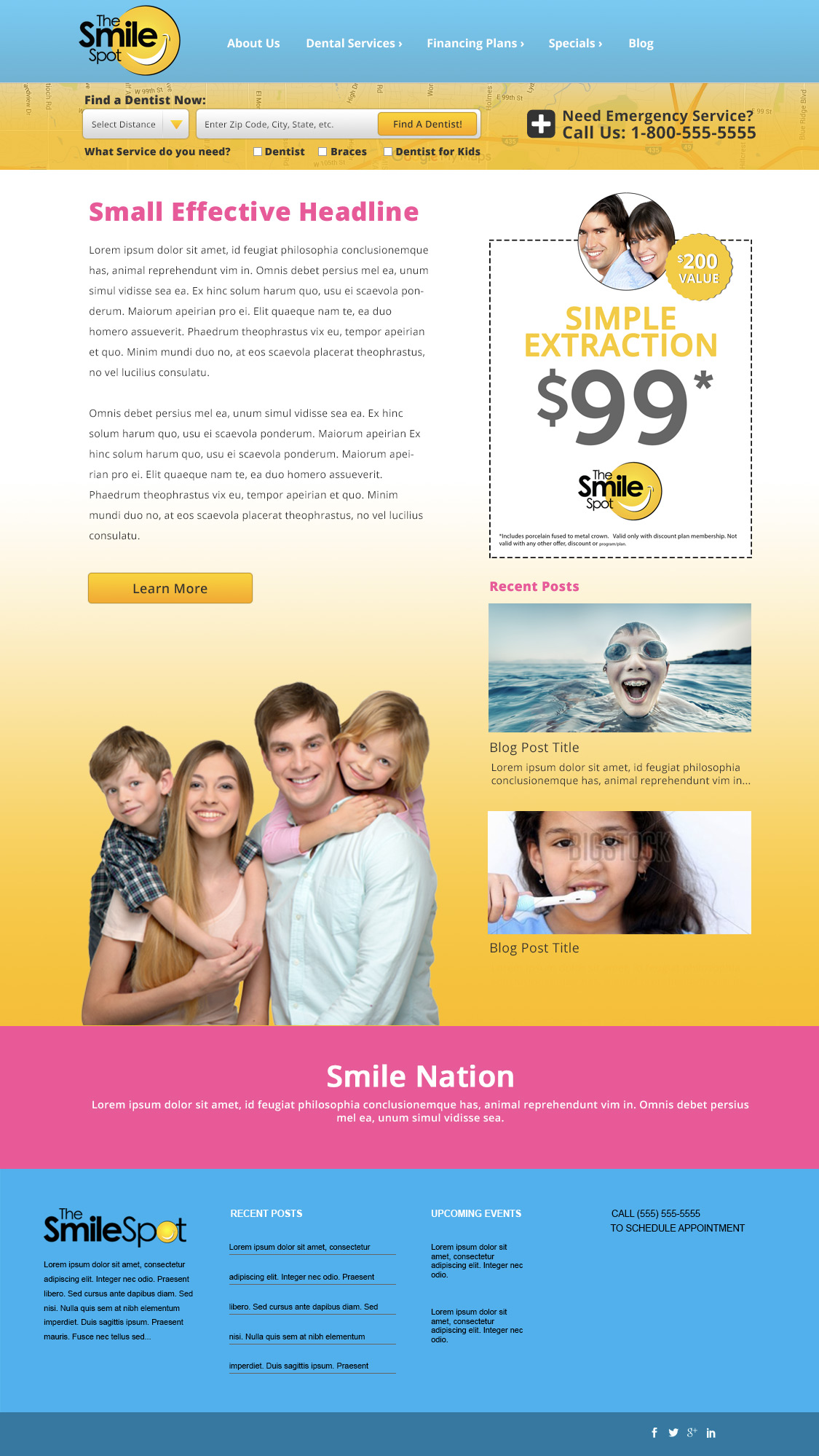 Smile Nation Mock Site