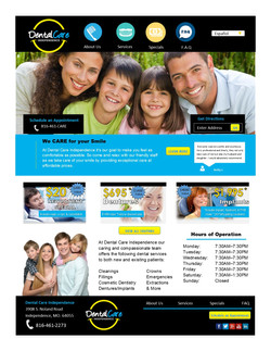 Mock Dental Care Site