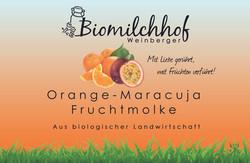 Orange Maracuja Fruchtmolke