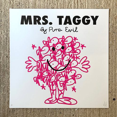 PURE EVIL 'MRS TAGGY' ARTIST PROOF