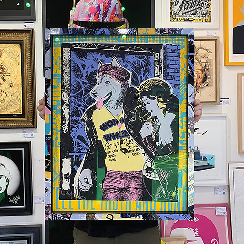 FAILE 'WONDER WHEEL' Limited Edition with CUSTOM GRAPHIC WRAPPED FRAME