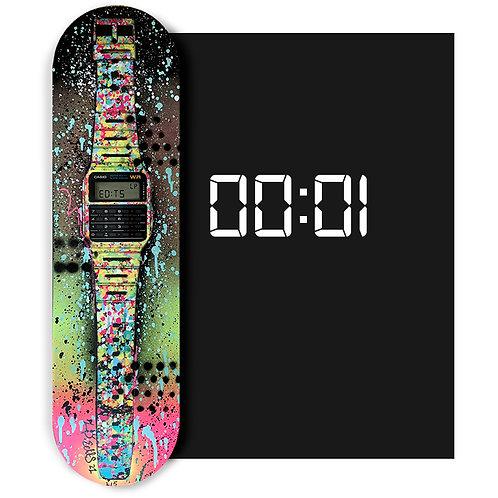 LP-EDITS  #1 'Classic Casio Skateboard Deck' HAND EMBELLISHED
