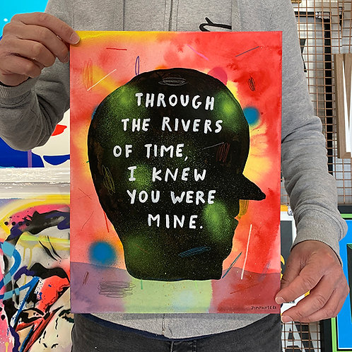 JIMP WAS ERE 'Through the Rivers of Time, I Knew You Were Mine' ORIGINAL ARTWORK