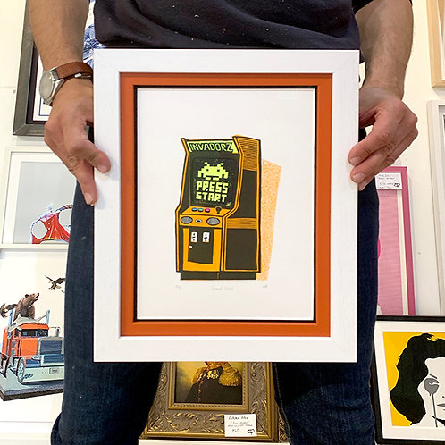 KESTER HACKNEY 'INVADORZ' Ltd Ed Lino Print with FRAME