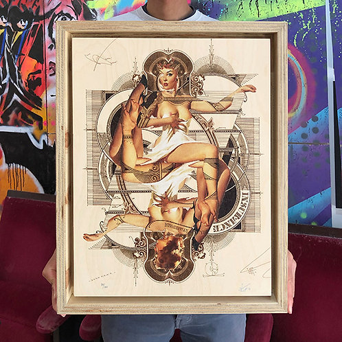 HANDIEDAN 'SPICA' Limited Edition Print on Wood with PLYWOOD FRAME
