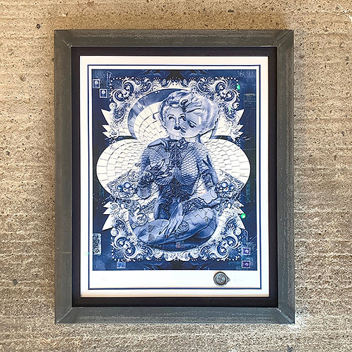 HANDIEDAN 'TORUS IN BLUE' AUGMENTED REALITY Ltd EDITION PRINT with METAL FRAME