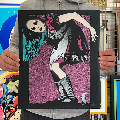 EELUS 'ALICE' Special Spray Paint Print Limited Edition of 13