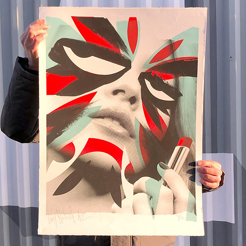 'KATE MOSS' Mysterious Al Limited Edition Print of 30