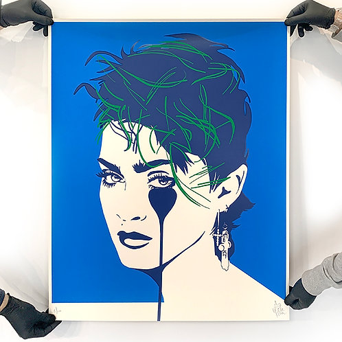PURE EVIL 'MADONNA' Lucky Star Blue Limited Edition Print
