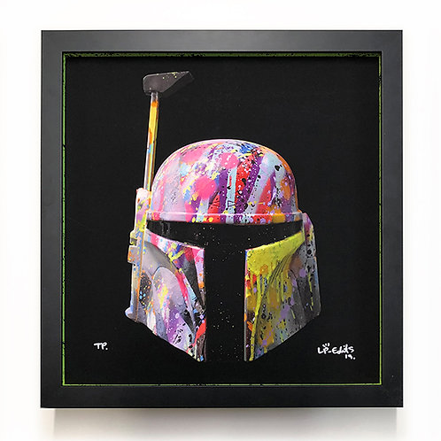 LP-EDITS 'BOBA FETT' Ltd Edition FRAME and Ltd Edition ART PRINT 45cm x 45cm