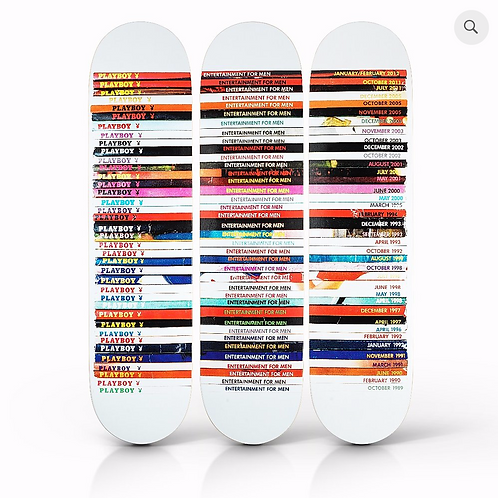 MARK VESSEY 'PLAYBOY' SKATEBOARD DECKS Set of 3
