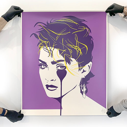 PURE EVIL 'MADONNA' Star Lilac Limited Edition Print