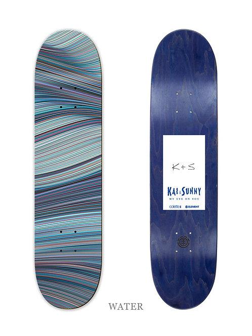 KAI & SUNNY 'WATER' ELEMENTS SKATEBOARD