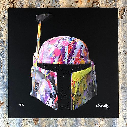 LP-EDITS 'BOBA FETT' Ltd Edition ART PRINT 80cm x 80cm