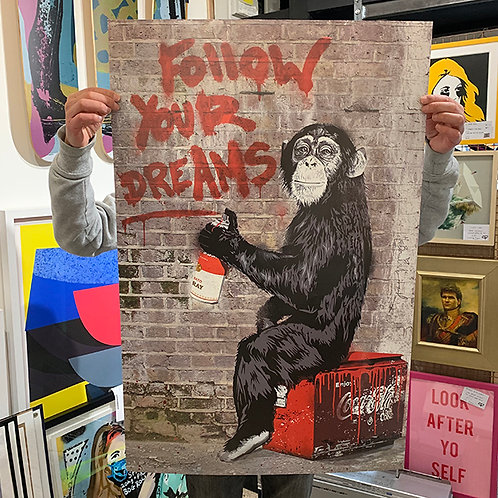 MR BRAINWASH 'Follow Your Dreams' Offset Litho PRINT