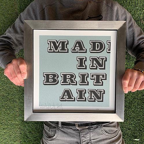 BEN EINE 'MAD IN BRITAIN' 'SILVER' LTD ED. PRINT with CUSTOM FRAME