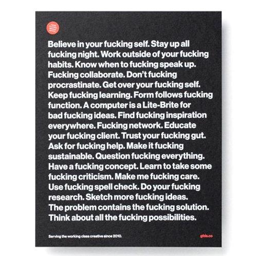 Good Fucking Design Advice 'CLASSIC ADVICE MINI' Silkscreen Art Print