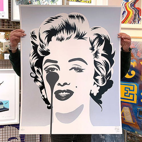 PURE EVIL 'Marilyn Classic' SILVER Limited Edition Print