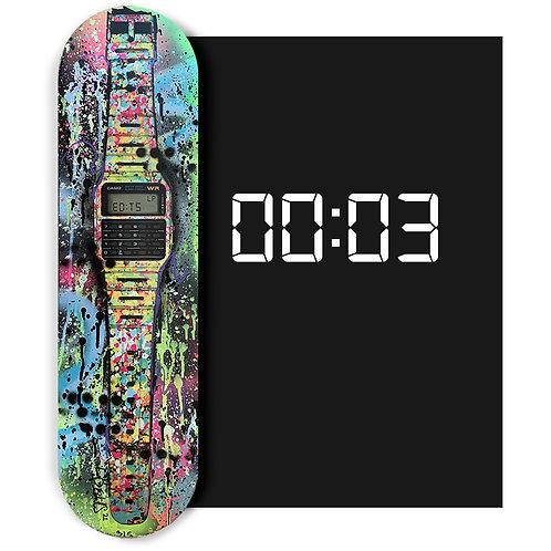 LP-EDITS #3 'Classic Casio Skateboard Deck' HAND EMBELLISHED