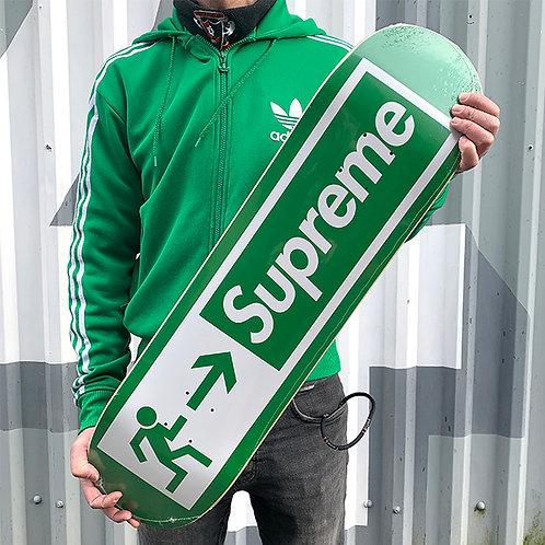 SUPREME 'EXIT' Skateboard Deck
