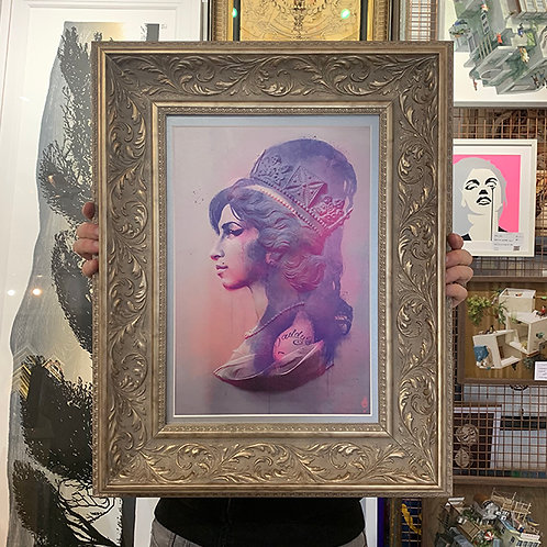 TINYRIOT 'CAMDEN QUEEN' Amy Winehouse PRINT with ORNATE FRAME