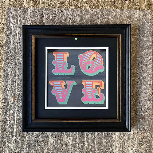 BEN EINE 'LOVE' LENTICULAR with FRAME (No.5)