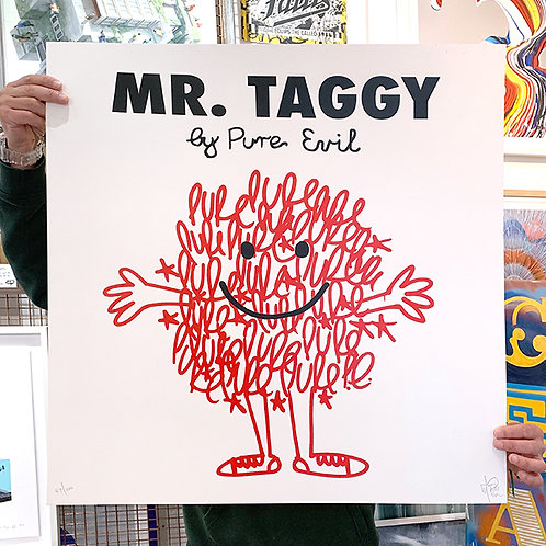 PURE EVIL 'MR TAGGY' Limited Edition Print