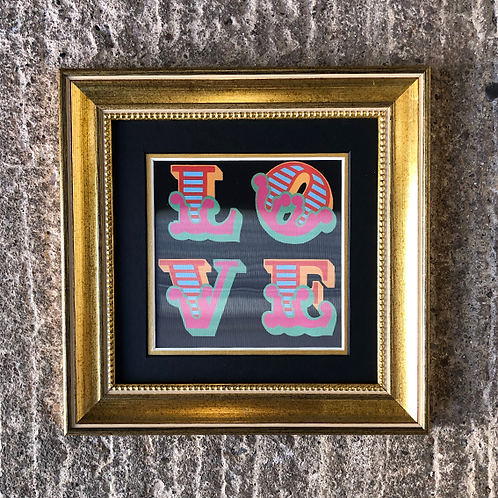BEN EINE 'LOVE' LENTICULAR with FRAME (No.6)