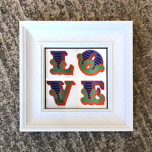 BEN EINE 'LOVE' LENTICULAR with FRAME (No.9)
