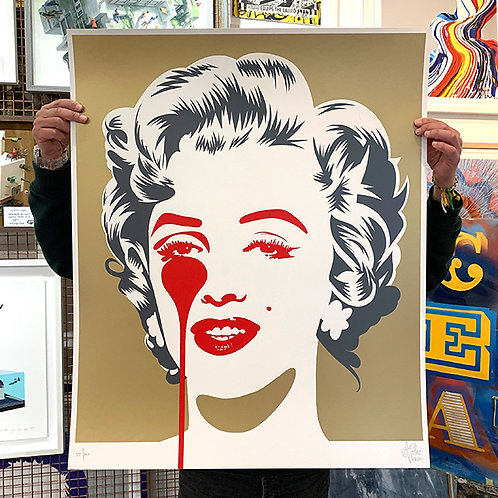 PURE EVIL 'Marilyn Classic' GOLD Limited Edition Print