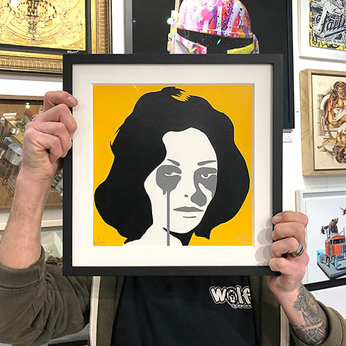 PURE EVIL 'ELIZABETH TAYLOR' Mini Ltd Edition PRINT with FRAME