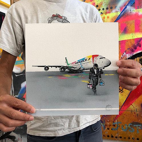 NICK WALKER 'AIR FRANCE' A/P - Artist Proof Print