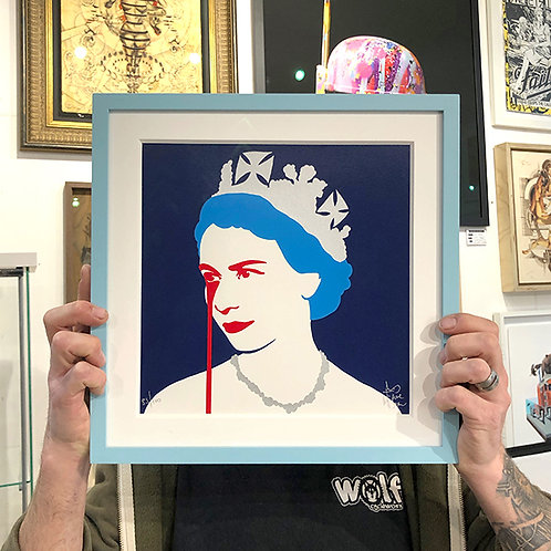 PURE EVIL 'QUEEN' Mini Ltd Edition PRINT with FRAME