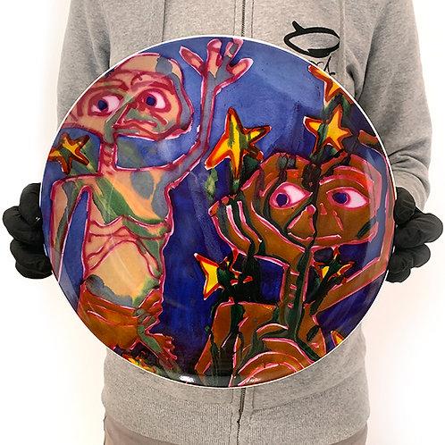 KATHERINE BURNHARDT 'Cosme' Limited Edition Plate
