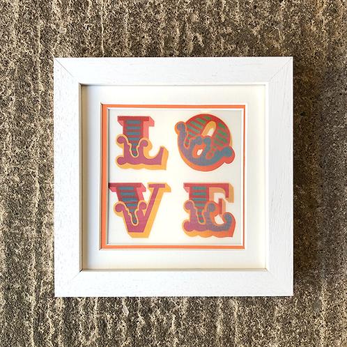 BEN EINE 'LOVE' LENTICULAR with FRAME (No.4)