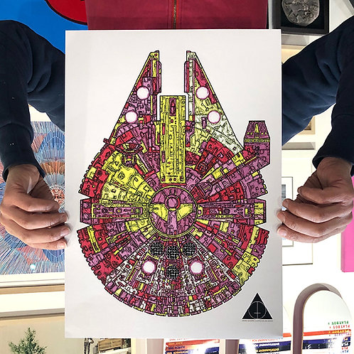 'MILLENNIUM FALCON' STAR WARS Red & Yellow