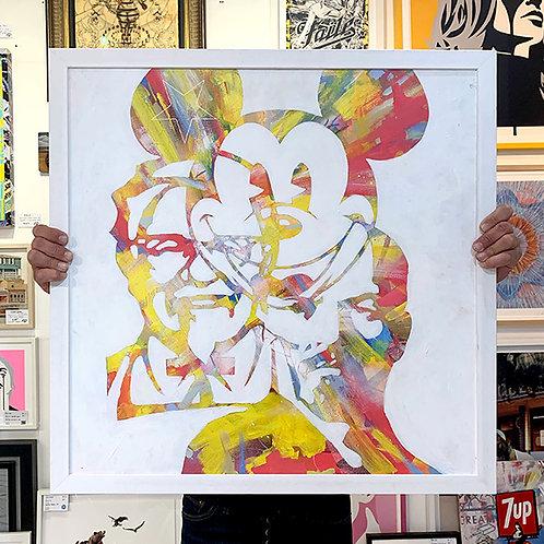 ROBIN DOYLE 'PROPOGANDA (MICKEY LENIN KFC' Original Painting with Frame