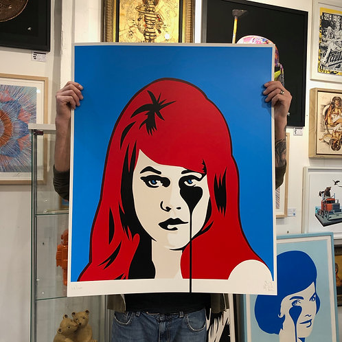PURE EVIL 'JANE FONDA' Red & Blue Ltd Ed Print