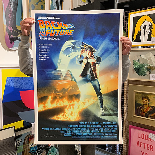 BACK TO THE FUTURE Signed by 'Drew Struzan' SCREEN PRINT
