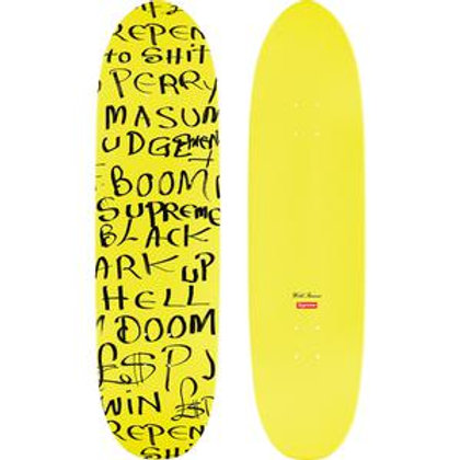 SUPREME 'LEE SCRATCH PERRY' (YELLOW) SKATEBOARD DECK