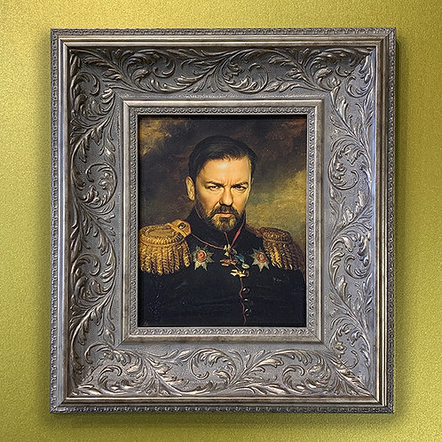REPLACE FACE 'RICKY GERVAIS' with ORNATE FRAME