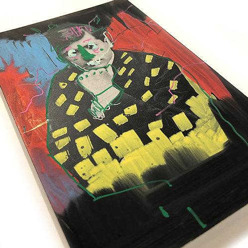 LEE ELLIS 'WHITE NOISE ON REPEAT (76)' ORIGINAL ARTWORK